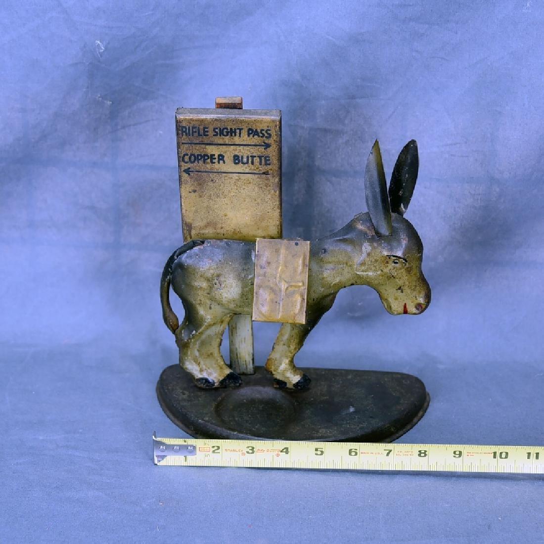 Tin Donkey Cigarette Dispenser Match Holder - 2