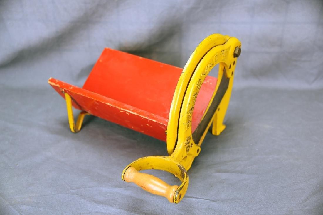 Vintage Raadvad Denmark Cast Iron Bread Slicer - 4