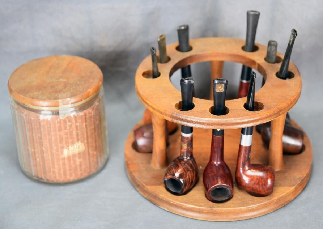 Pipe and Tobacco Holder with 9 Pipes - 2