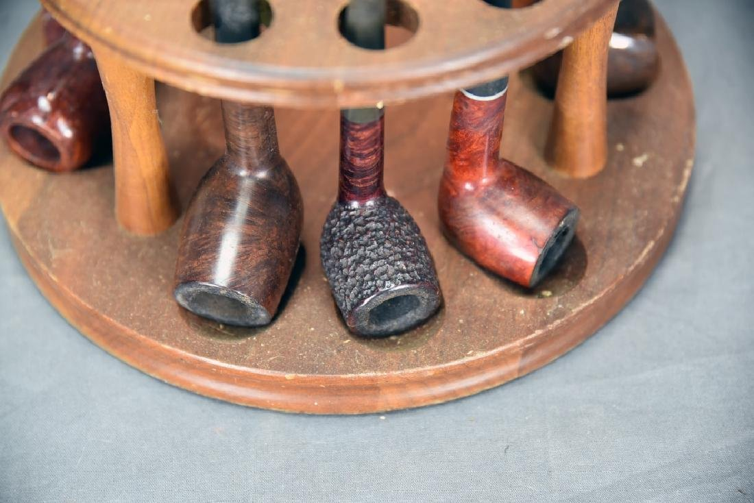 Pipe and Tobacco Holder with 9 Pipes - 7