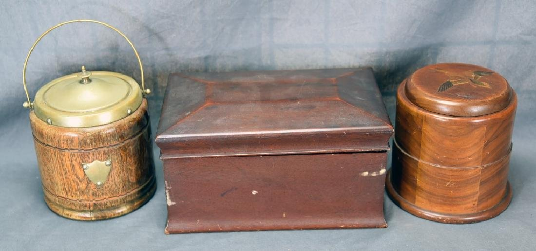 3 Vintage Wooden Cigar Humidors