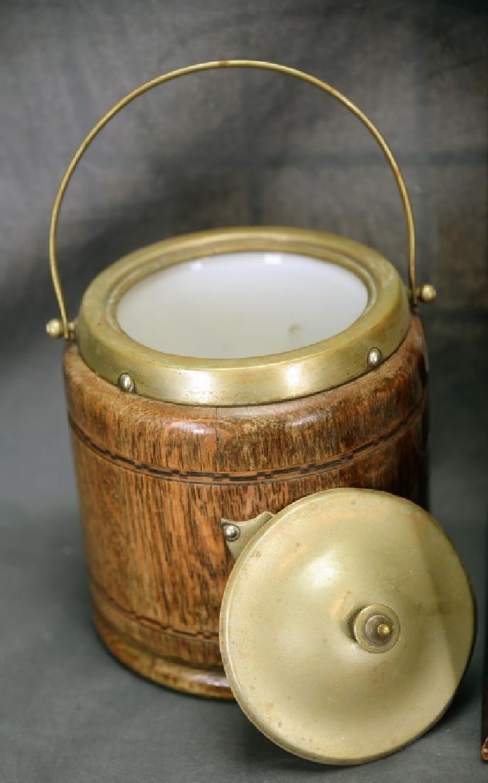 3 Vintage Wooden Cigar Humidors - 4