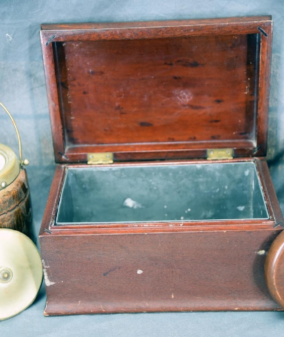 3 Vintage Wooden Cigar Humidors - 5