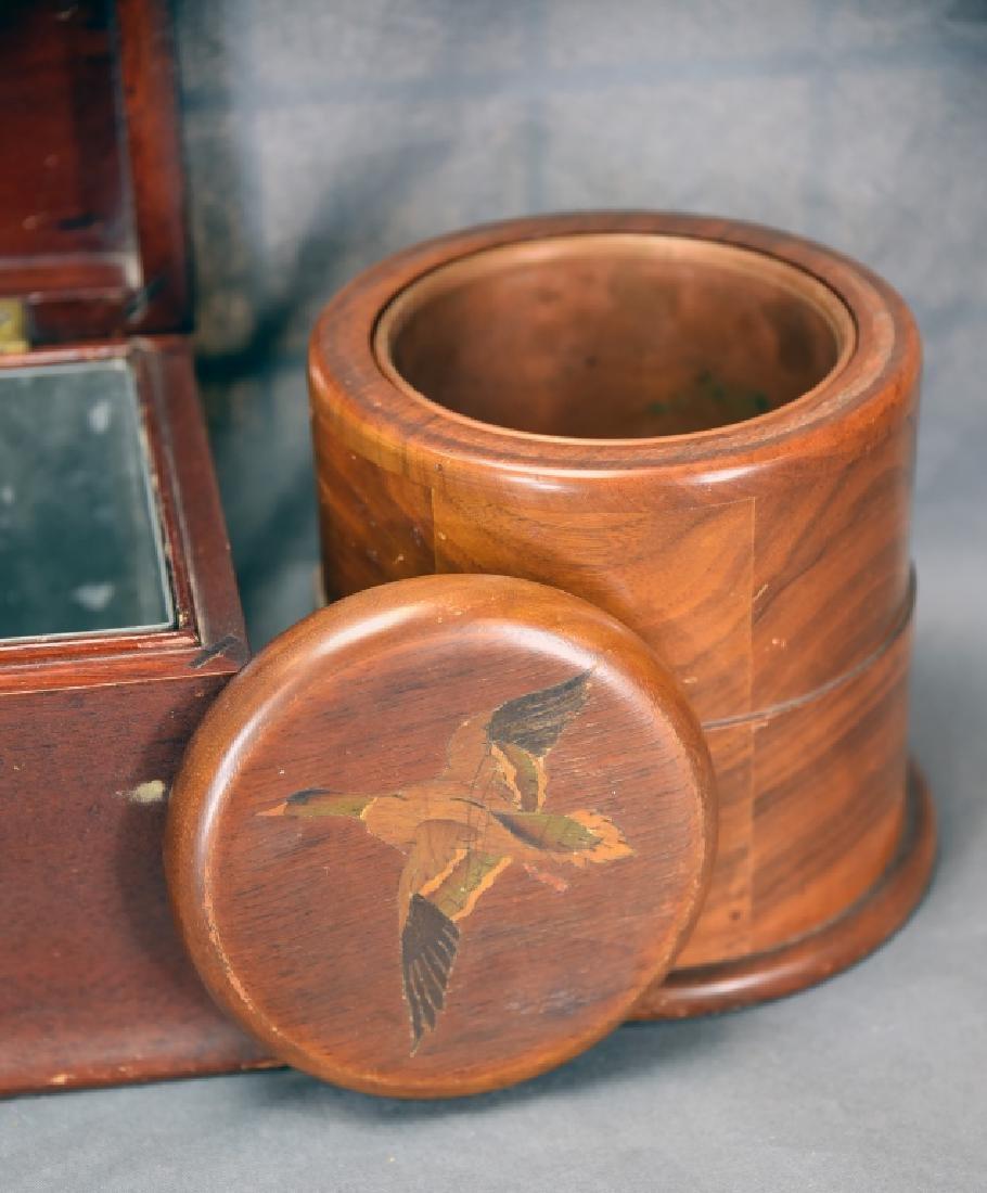 3 Vintage Wooden Cigar Humidors - 6