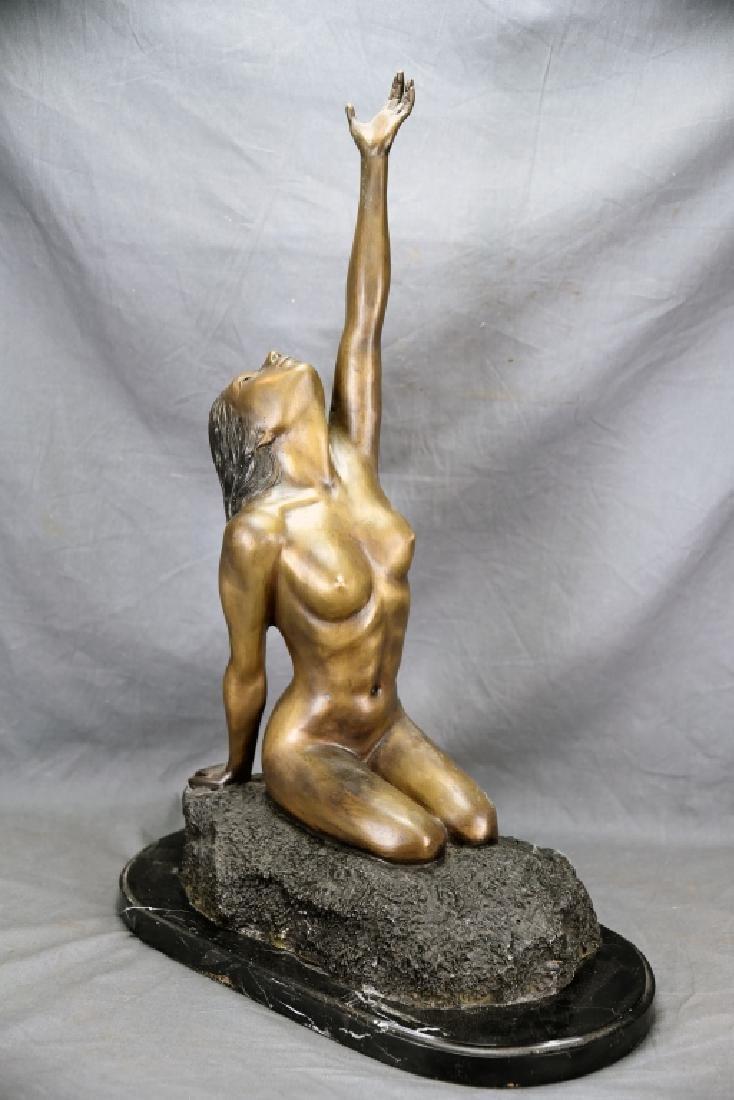 Vintage Bronze Nude Female Figure