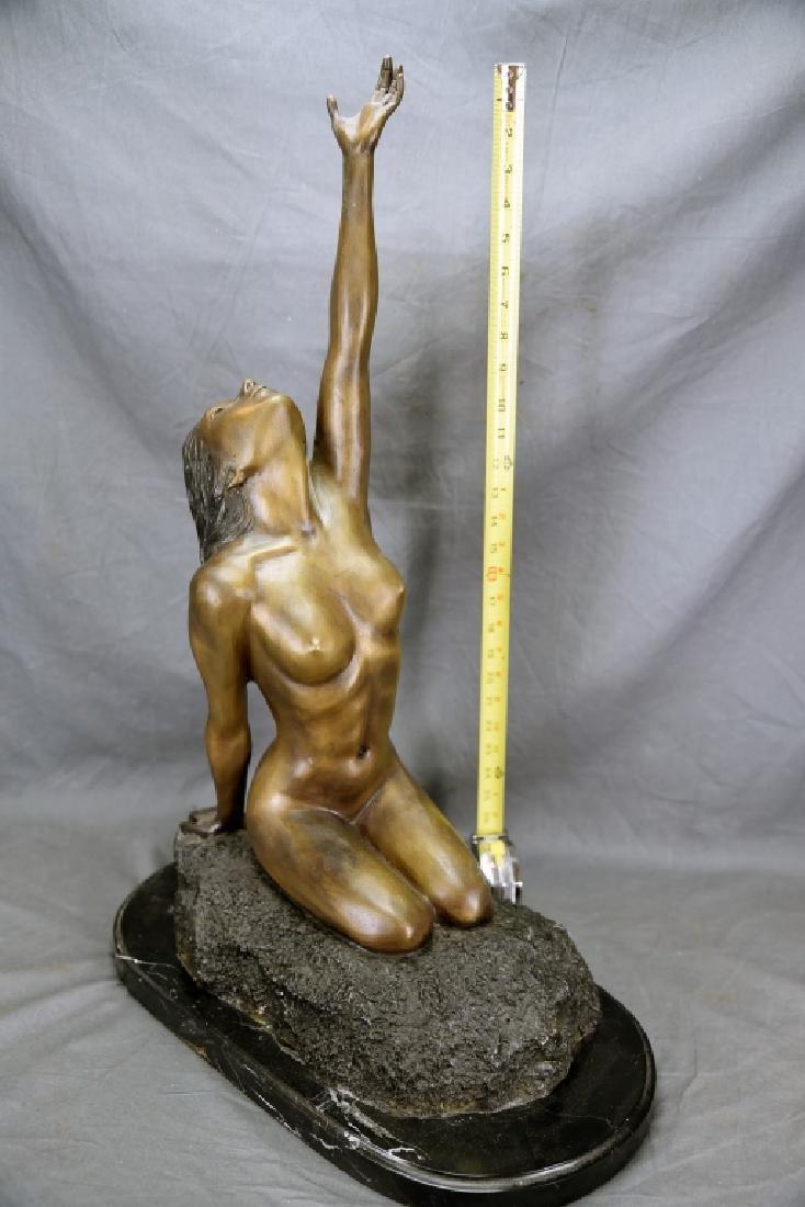 Vintage Bronze Nude Female Figure - 2
