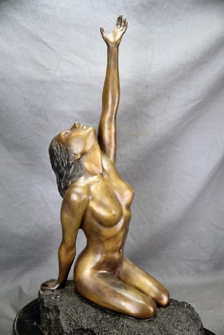 Vintage Bronze Nude Female Figure - 3