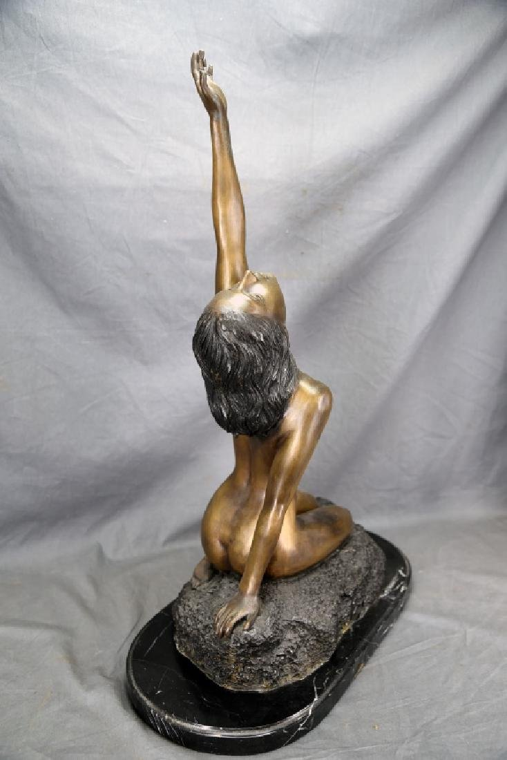Vintage Bronze Nude Female Figure - 4