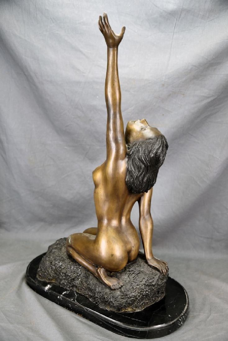 Vintage Bronze Nude Female Figure - 5