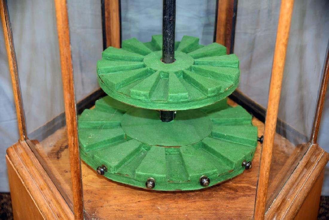 Pentagonal  Oak and Glass Store Gun Display - 2