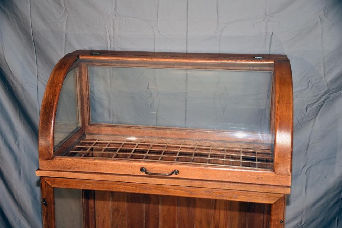 Large Oak Curved Glass Cane or Umbrella Display - 2