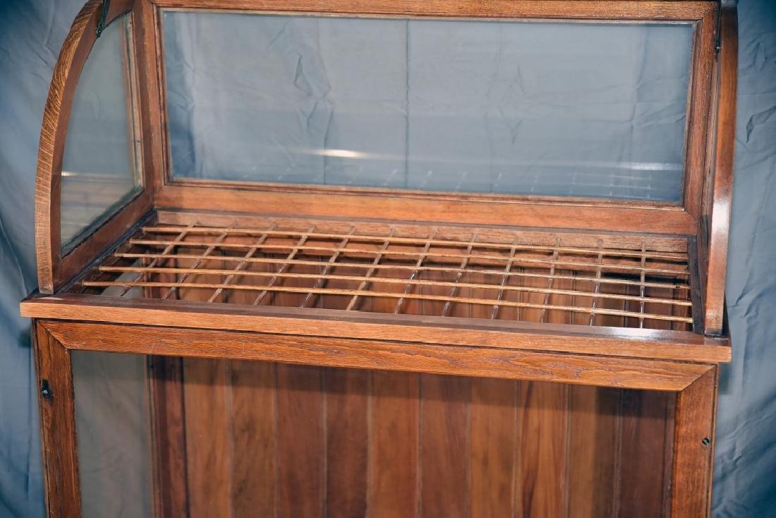 Large Oak Curved Glass Cane or Umbrella Display - 6