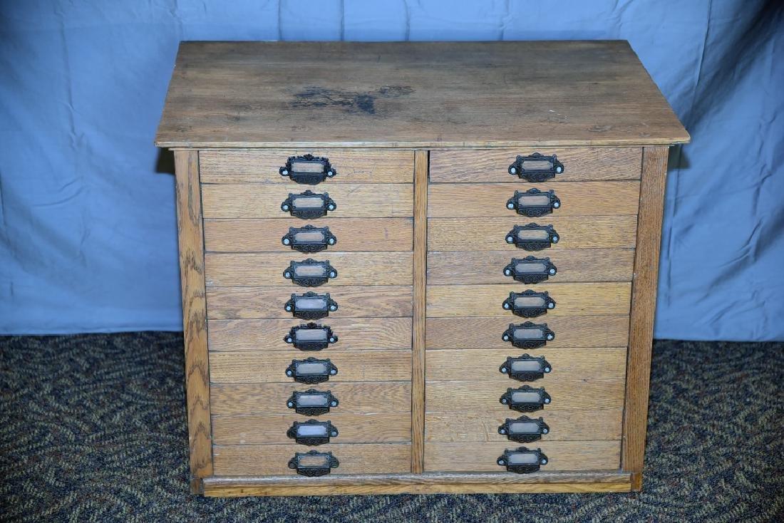 18 Drawer Oak flat file
