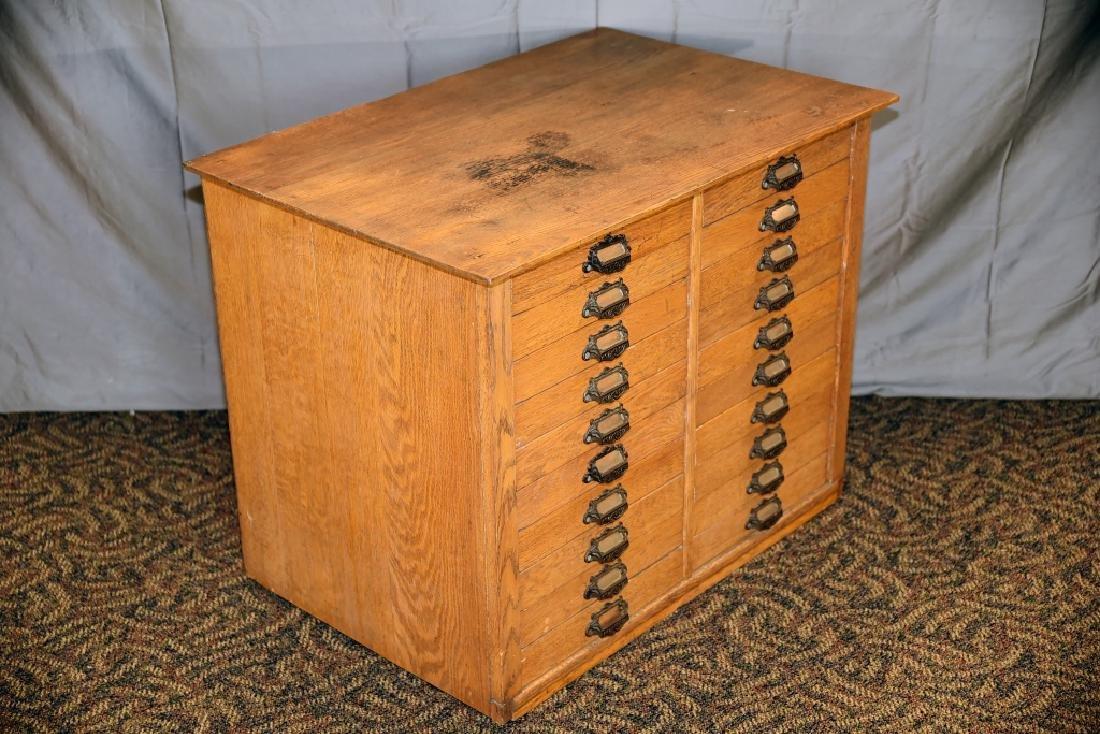 18 Drawer Oak flat file - 2