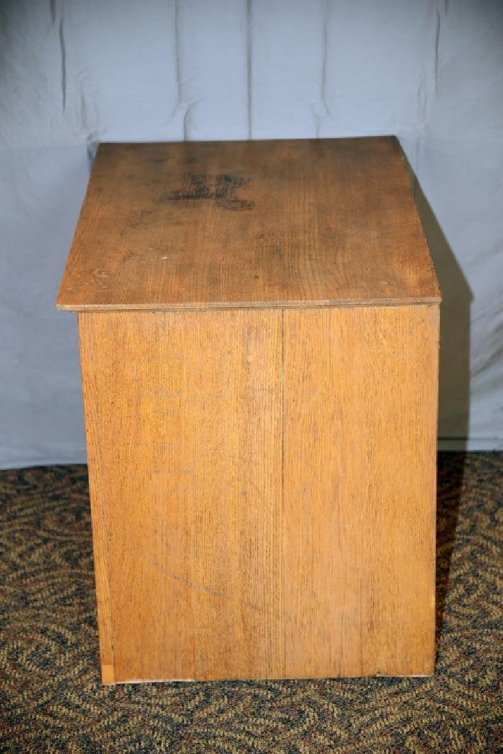 18 Drawer Oak flat file - 5