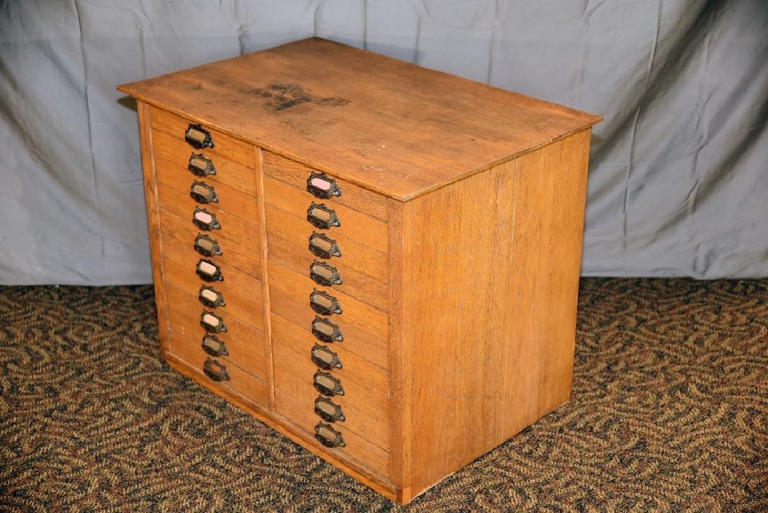 18 Drawer Oak flat file - 6