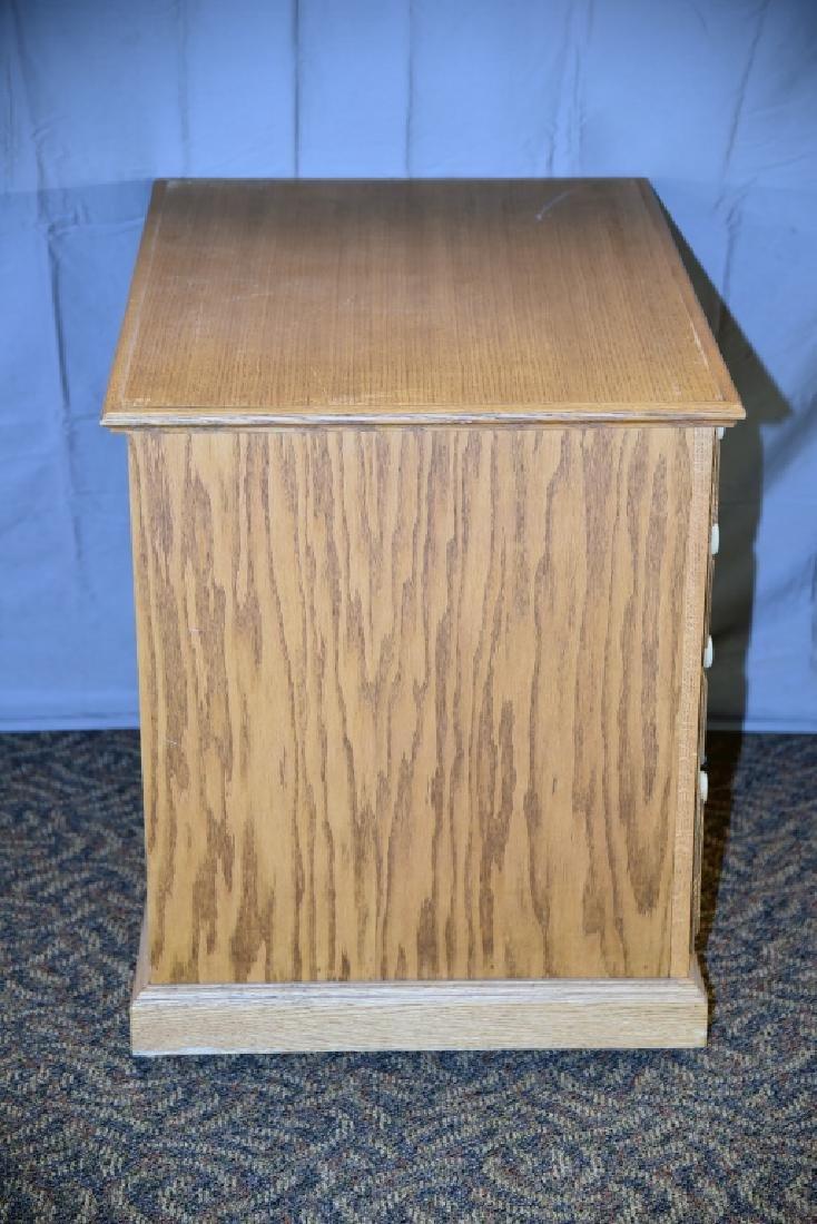 8 Drawer Oak Cabinet on Wheels - 3