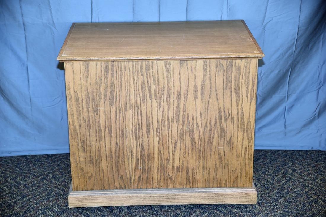 8 Drawer Oak Cabinet on Wheels - 4