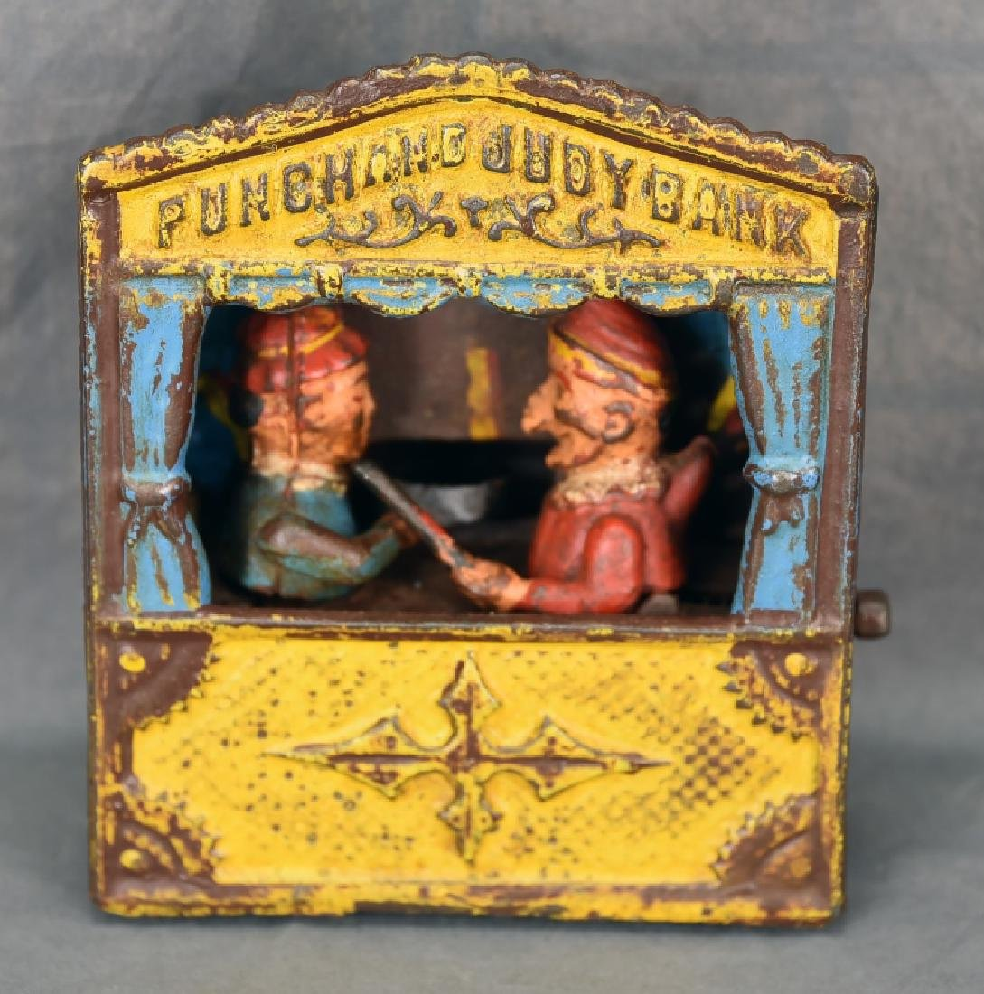 Punch & Judy Cast Iron Mechanical Bank