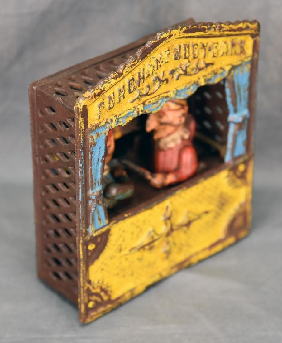Punch & Judy Cast Iron Mechanical Bank - 2