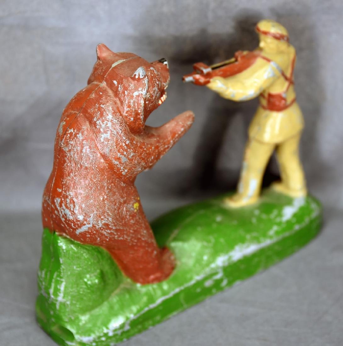 "Davy Crockett ""Shoot-A-Bar"" Mechanical Bank - 7"