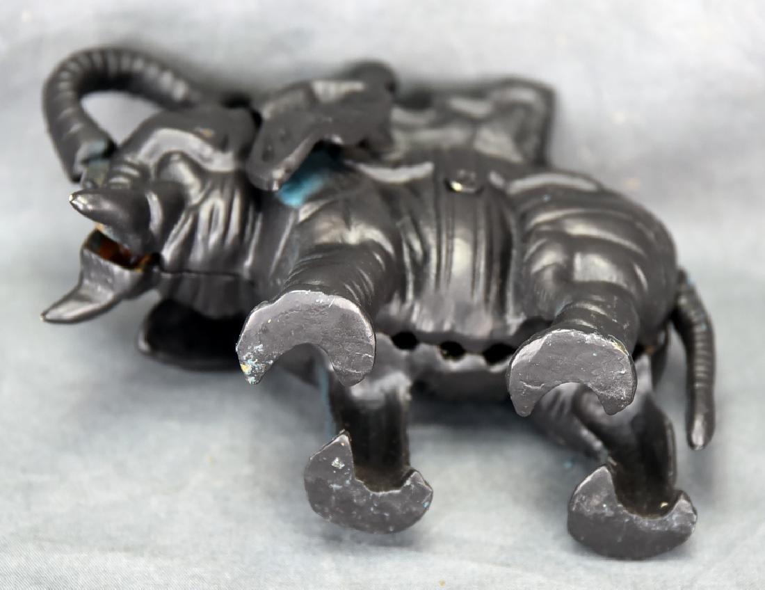 Cast Iron Mechanical Elephant Bank - 7