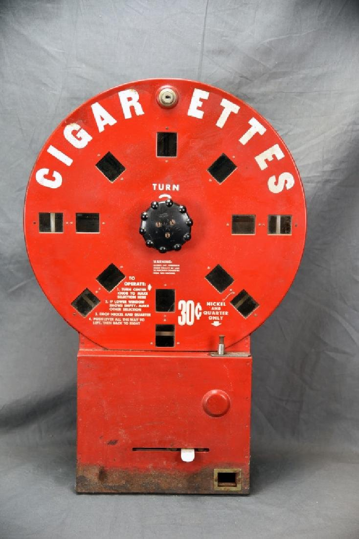 Red Elde Dial A Smoke Cigarette Vending Machine