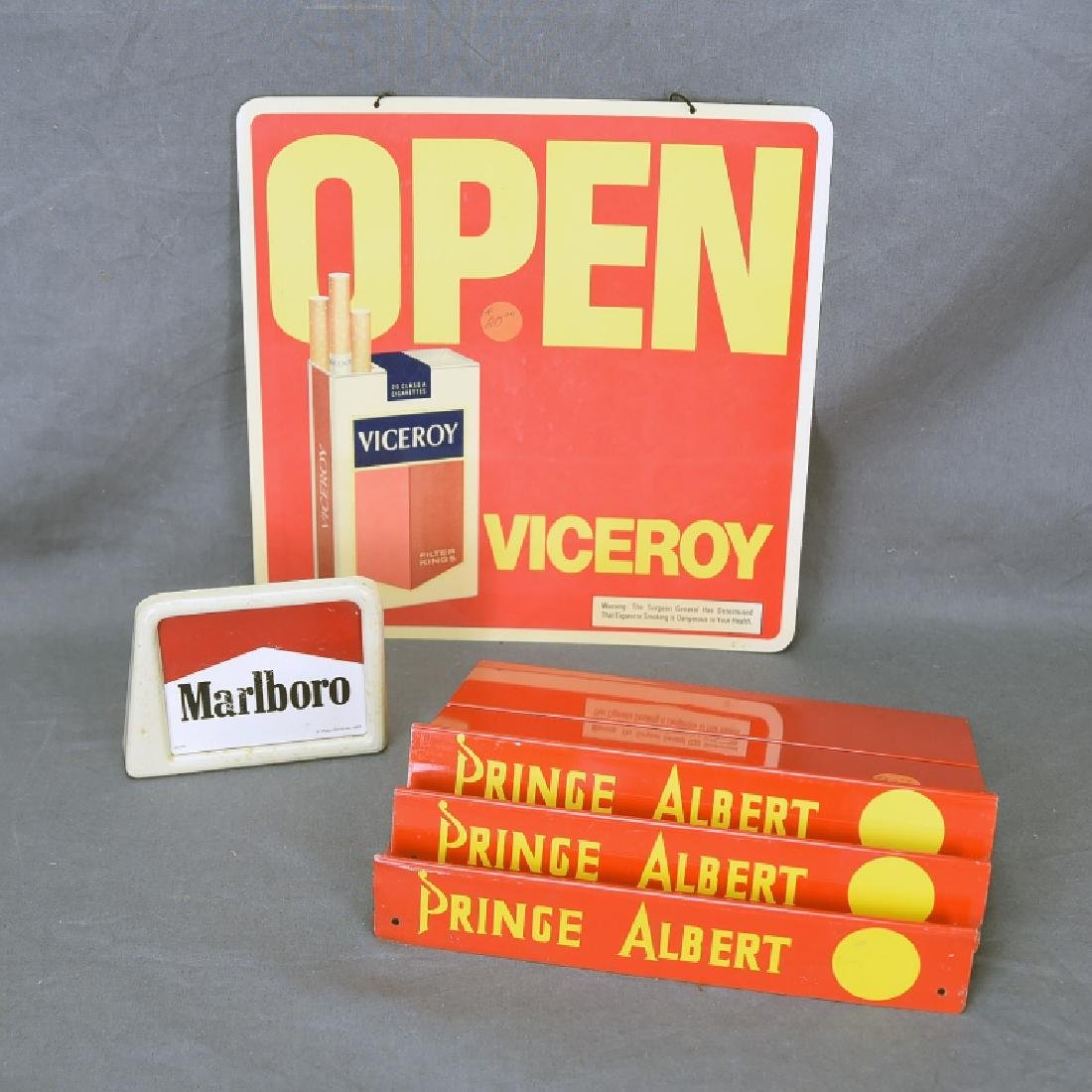 5 Pc Lot Cigarette and Tobacco Store Displays