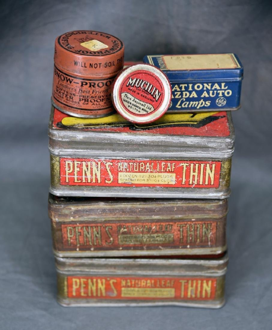 3 Tin Pen Nib Boxes, Mazda Lamp Tin and More - 5