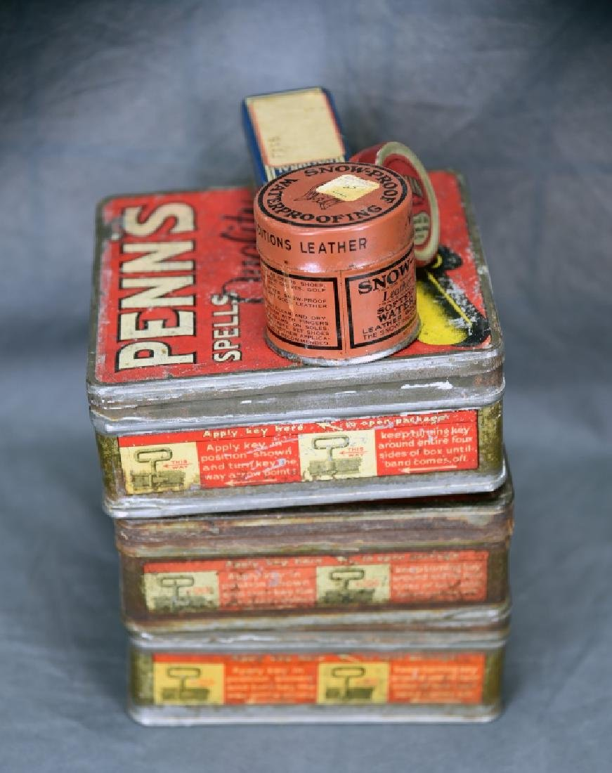 3 Tin Pen Nib Boxes, Mazda Lamp Tin and More - 6