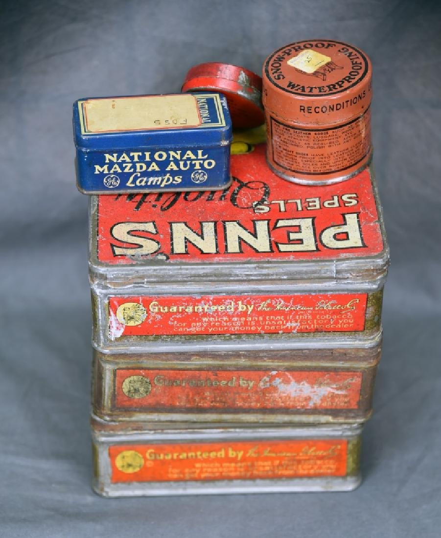 3 Tin Pen Nib Boxes, Mazda Lamp Tin and More - 7