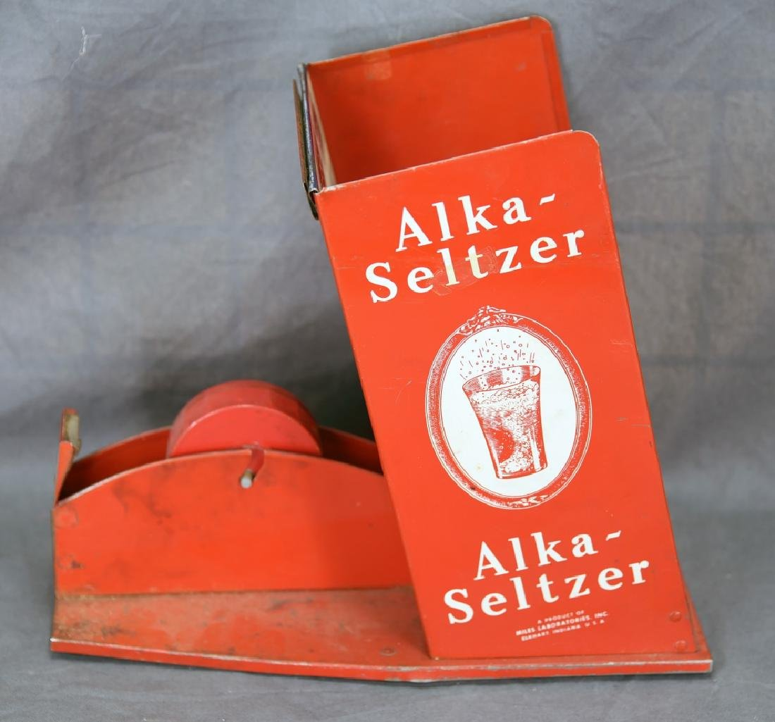 Alka Seltzer Tin Store Display Tape Dispenser