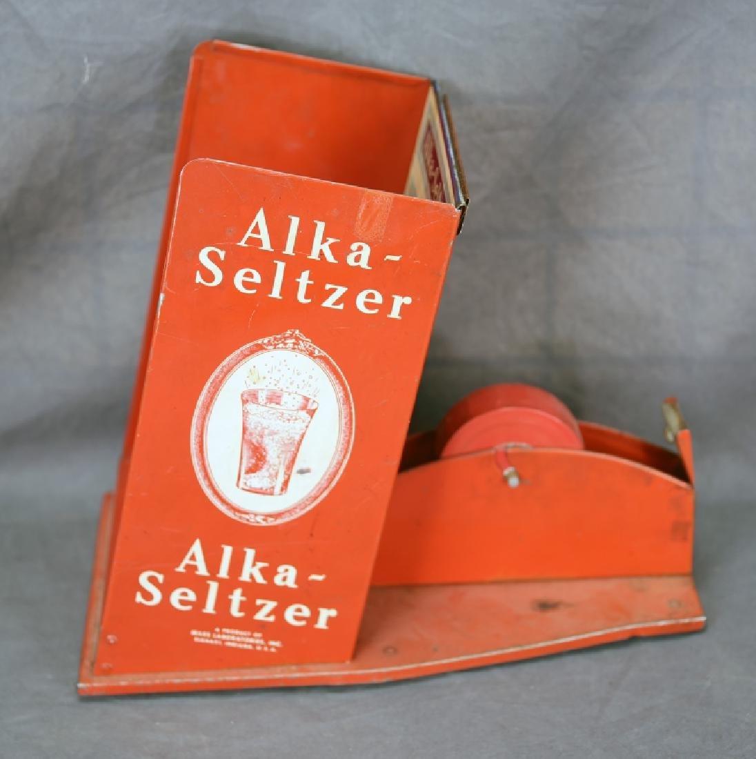 Alka Seltzer Tin Store Display Tape Dispenser - 3