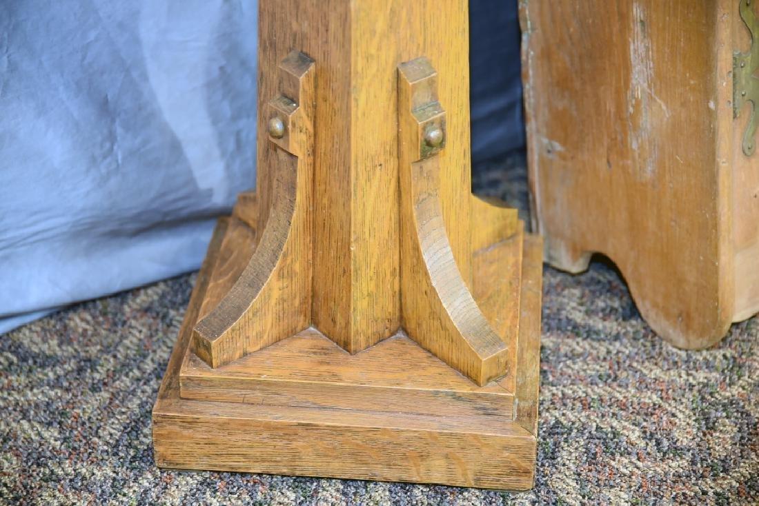 Oak Plant Stand, Ash 2 Door Hanging Cabinet - 7