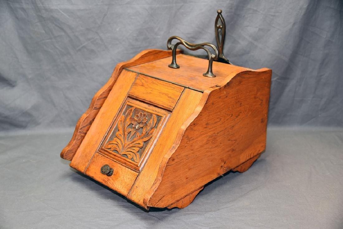 Art Nouveau Oak Coal Scuttle - 3