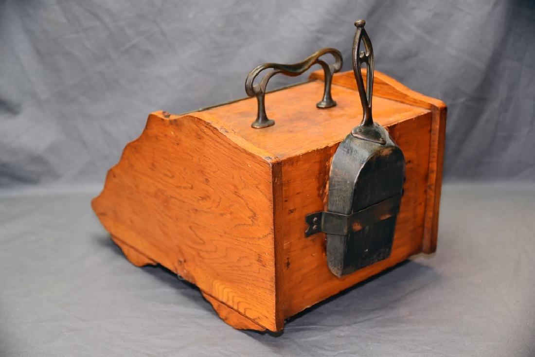 Art Nouveau Oak Coal Scuttle - 5