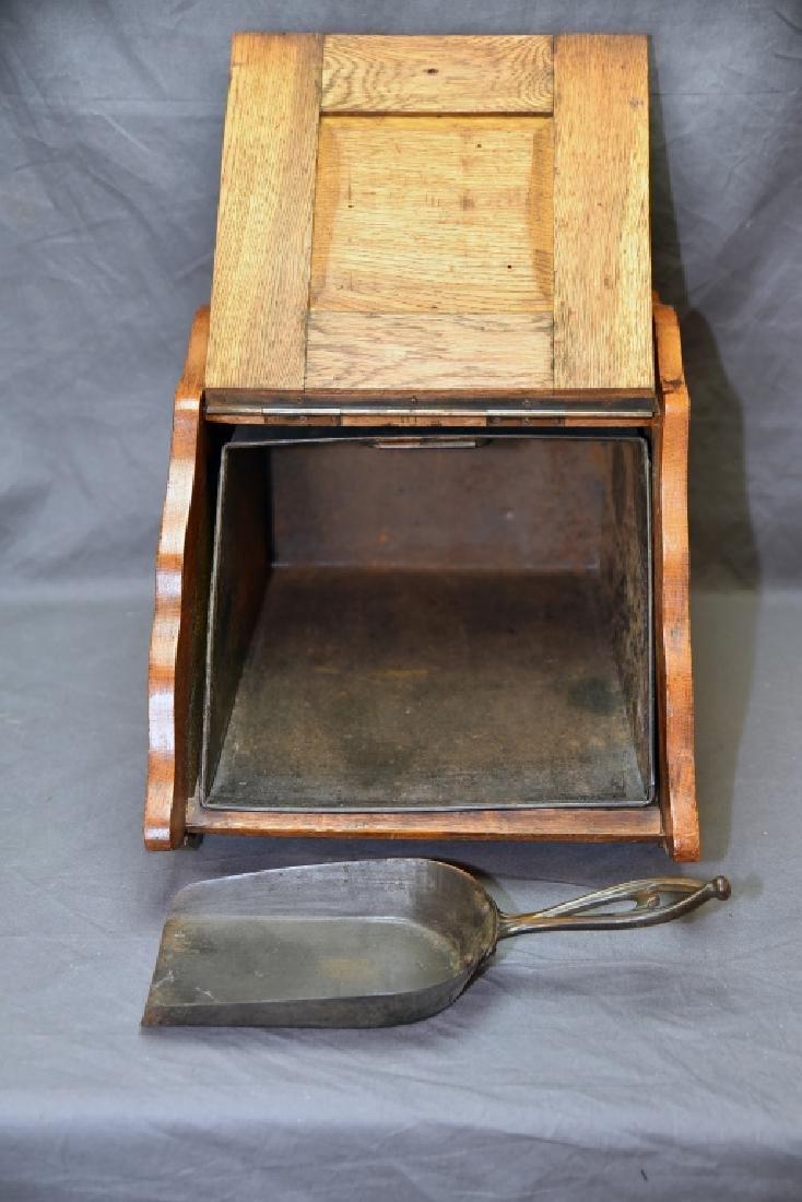 Art Nouveau Oak Coal Scuttle - 7