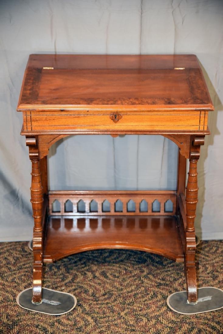 Slant Front Walnut Desk Circa 1870s