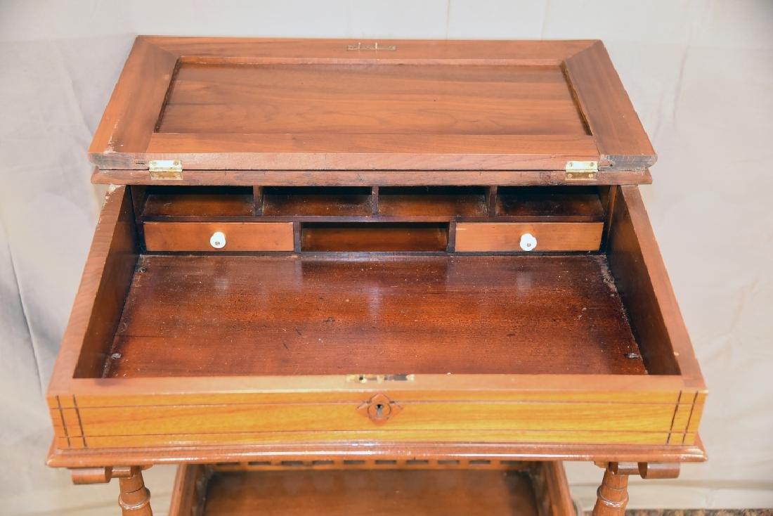 Slant Front Walnut Desk Circa 1870s - 2