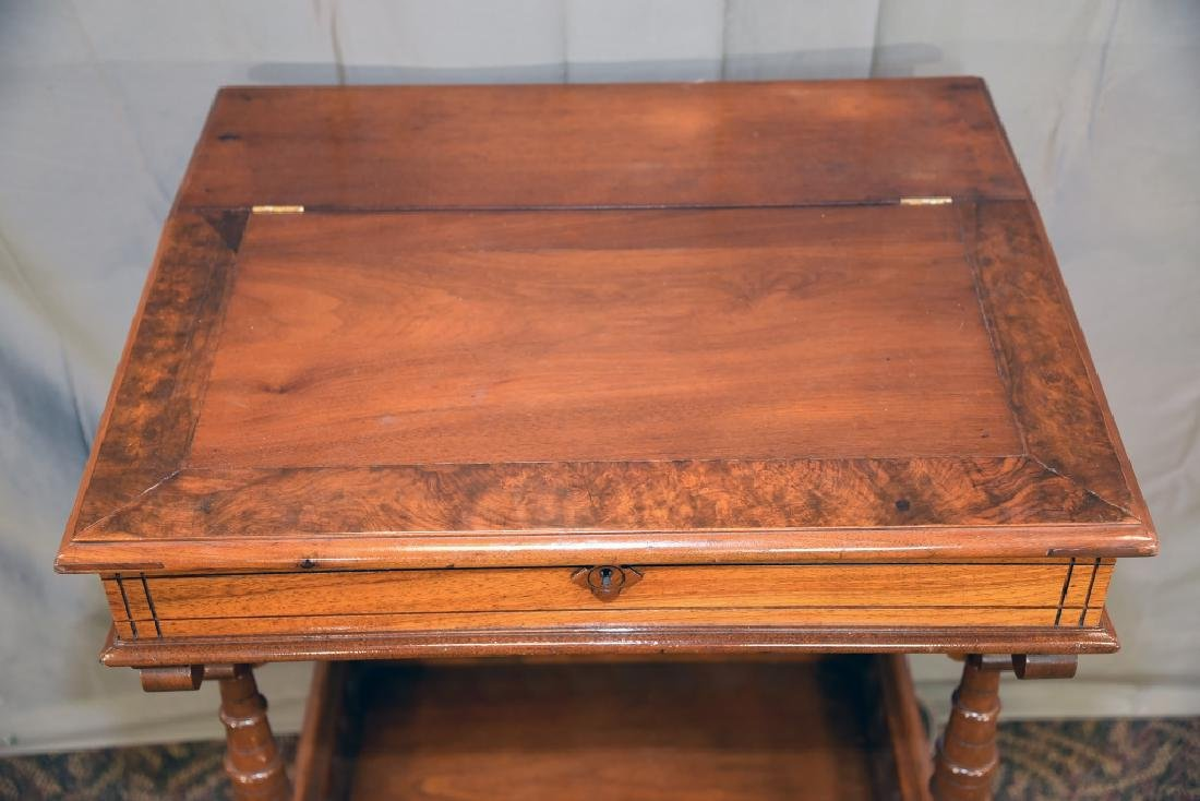 Slant Front Walnut Desk Circa 1870s - 3