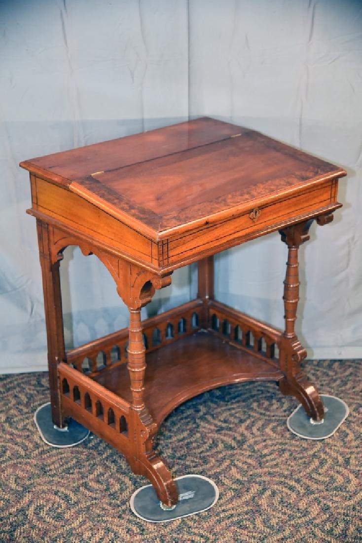Slant Front Walnut Desk Circa 1870s - 4