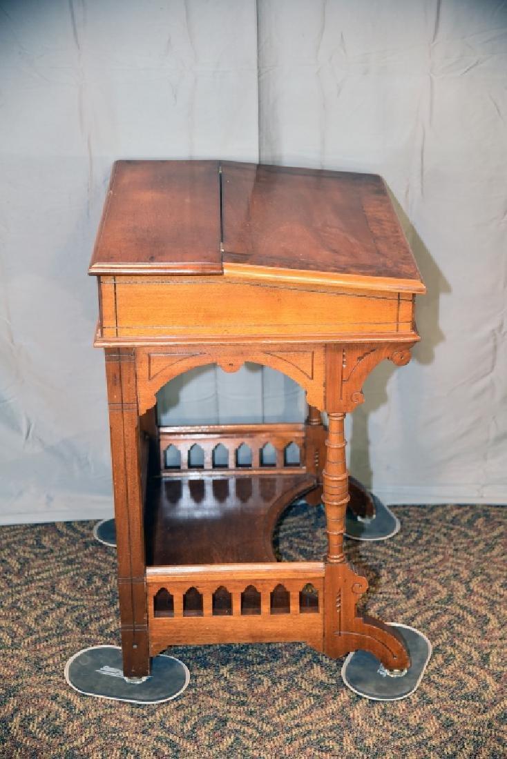 Slant Front Walnut Desk Circa 1870s - 5