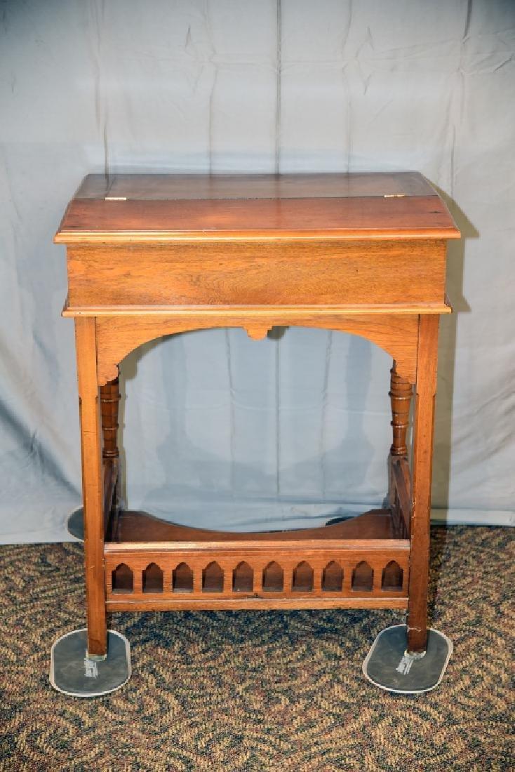 Slant Front Walnut Desk Circa 1870s - 6