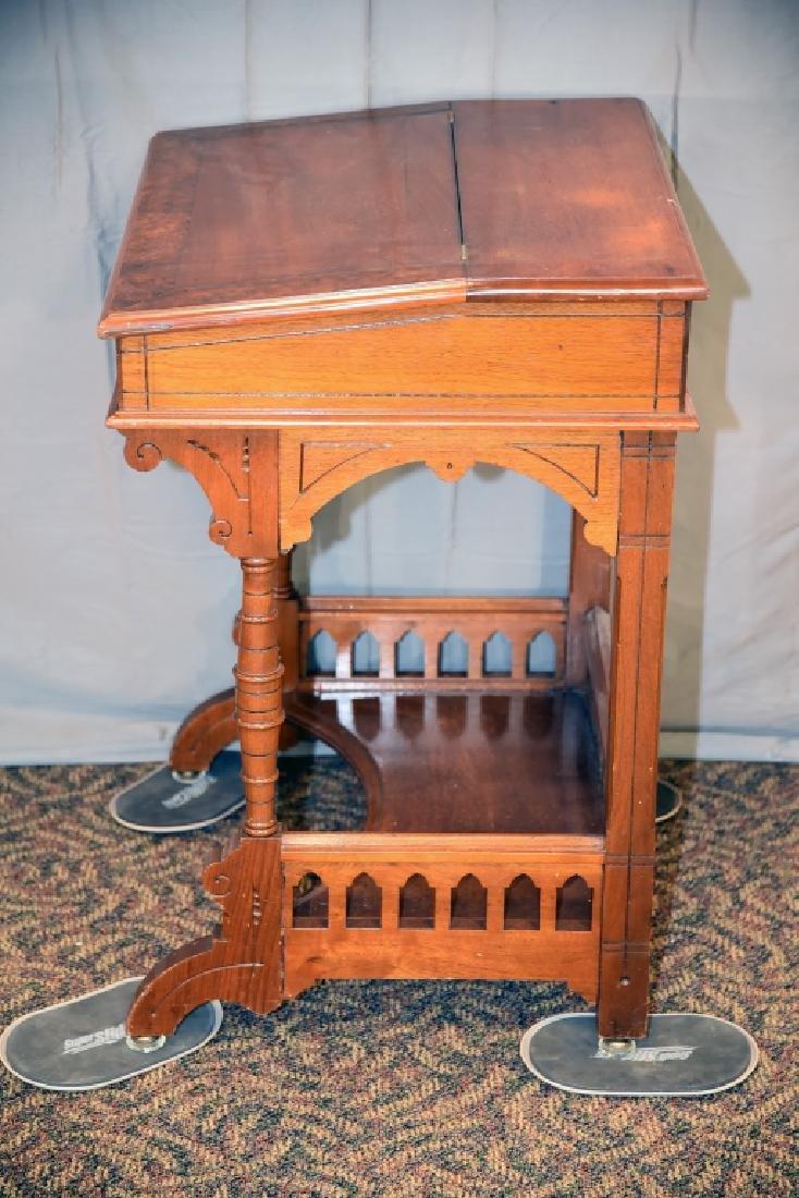 Slant Front Walnut Desk Circa 1870s - 7