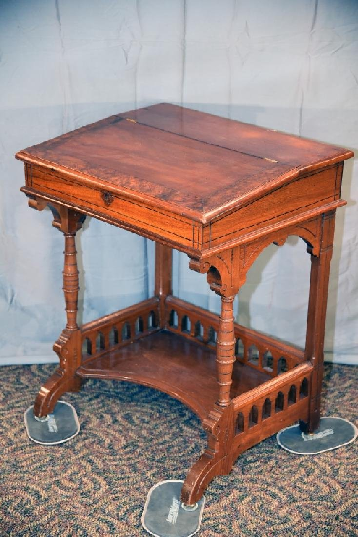 Slant Front Walnut Desk Circa 1870s - 8