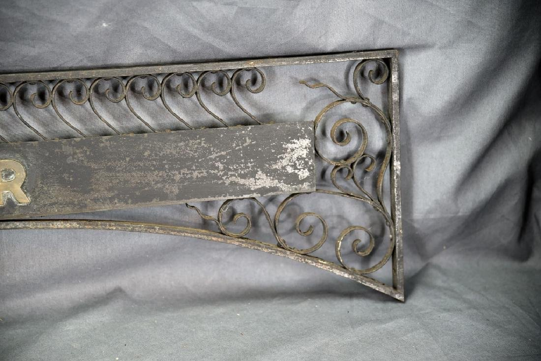 Wrought Iron And Brass Cashiers Station Sign - 3