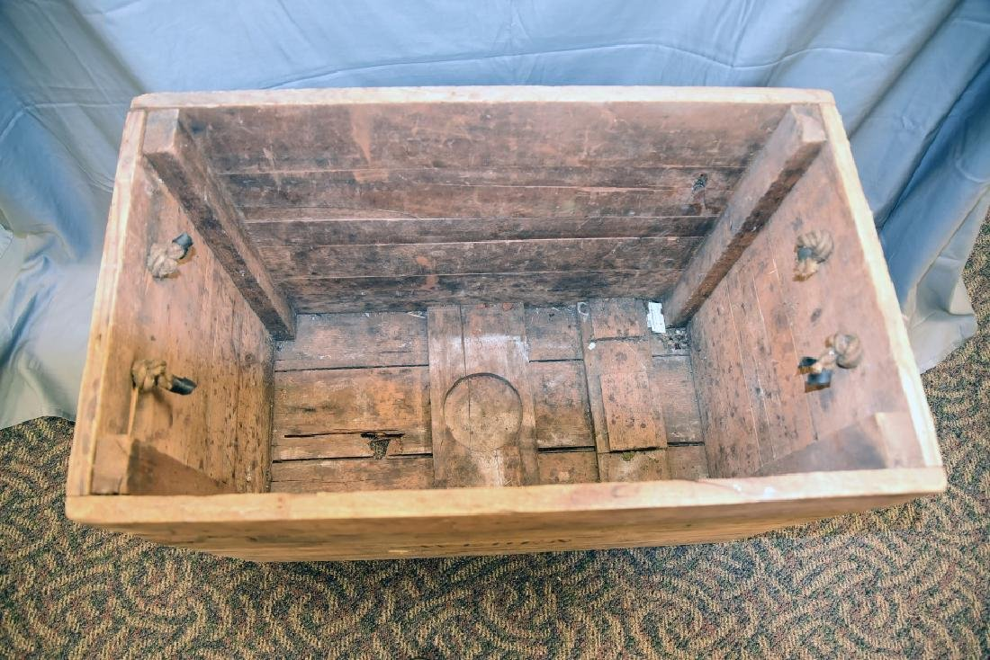 Vintage Sweden Wooden Shipping Box Crate - 2
