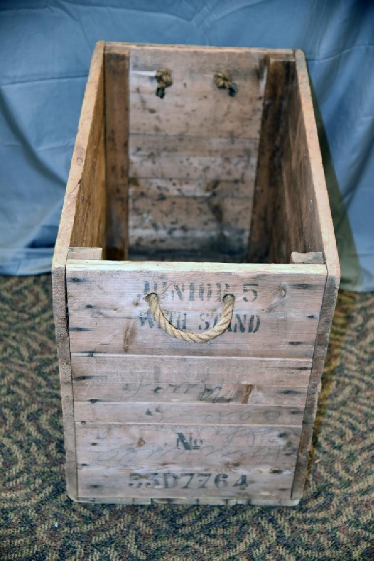 Vintage Sweden Wooden Shipping Box Crate - 5