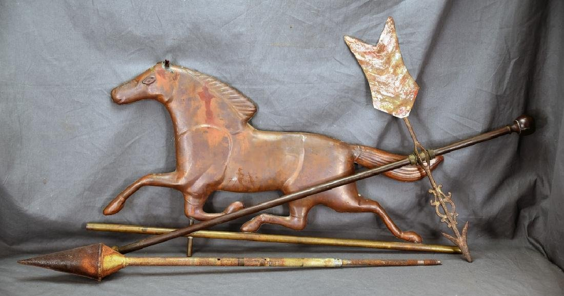 Copper Horse Weathervane and Parts
