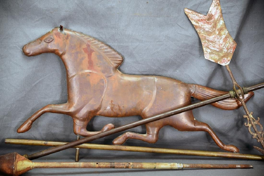 Copper Horse Weathervane and Parts - 2